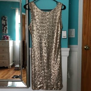 Crystal Doll Gold Sequin Dress